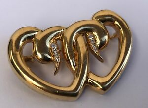 ffa10c0a92a Vintage Tiffany   Co Paloma Picasso 18K Yellow Gold Diamond Heart ...