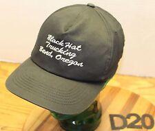 BLACK HAT TRUCKING BEND OREGON CAP/HAT BLACK SNAPBACK VERY GOOD CONDITION D20