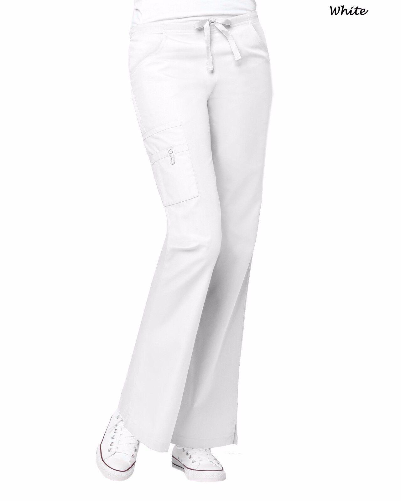 WonderWink Scrubs ORIGINS Women/'s Lady Fit Flare Leg Cargo Pant/_Regular/_XXS-5X