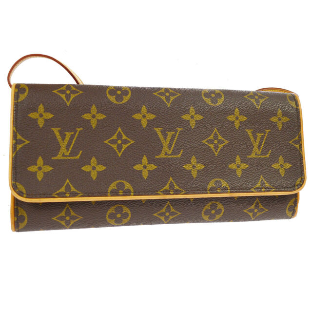 349440f54758 AUTHENTIC LOUIS VUITTON POCHETTE TWIN GM CROSS BODY SHOULDER BAG MONOGRAM  S08692