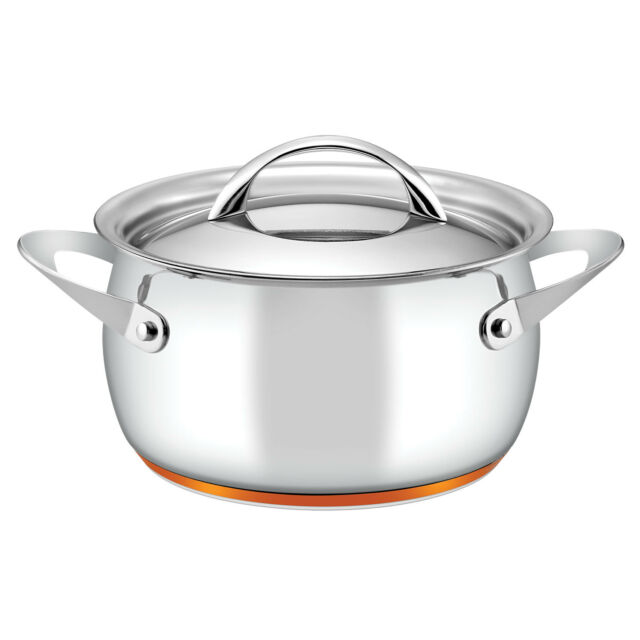 Essteele Per Vita 20cm 3.4L Covered Casserole Induction Stainless Steel Silver