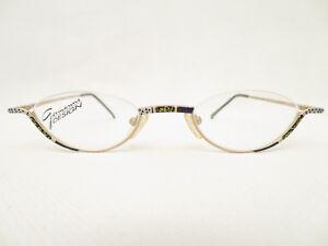 VINTAGE-Gormanns-Designer-MEZZA-BORDO-Occhiali-47-23-montatura-occhiali-eyewear-NOS