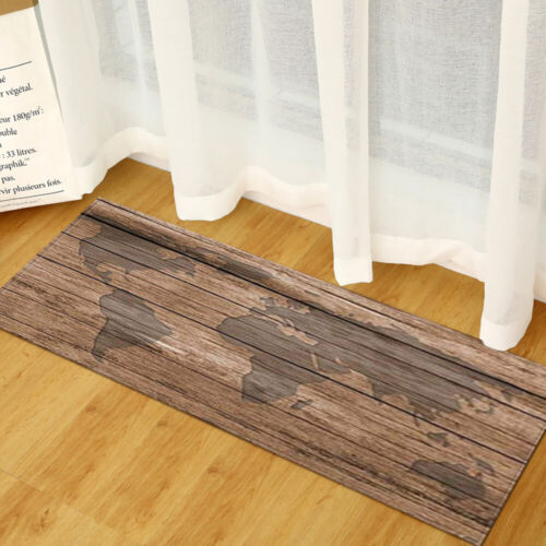 Rustic Wood Board Comfort Carpet Floor Mat Kitchen Rug Non Slip Runner Doormat