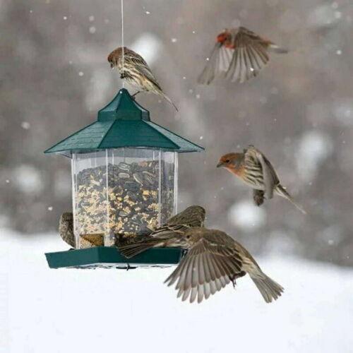 UK Waterproof Gazebo Hanging Bird Feeder Villa Outdoor Feeding Garden Decor