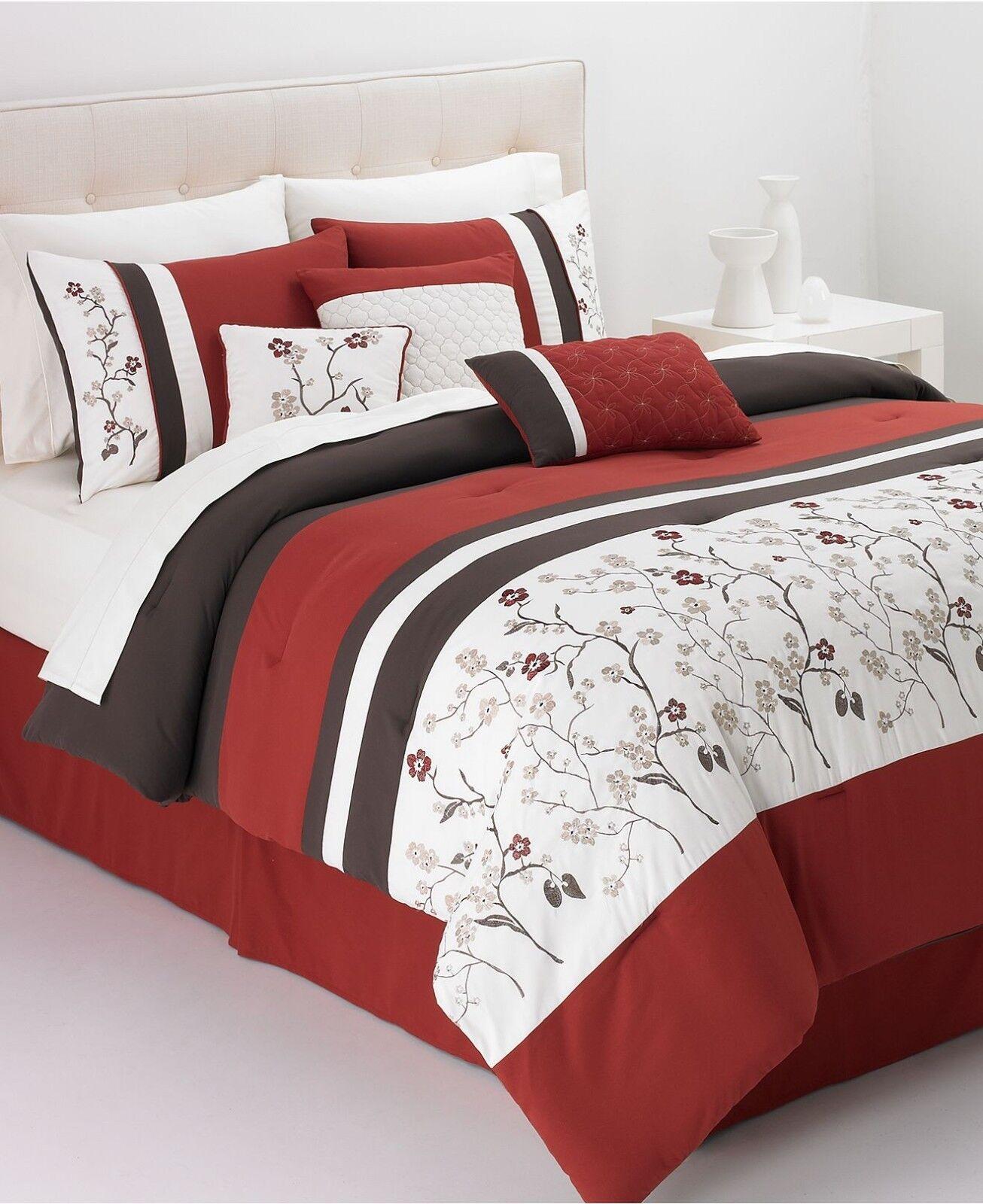 Hallmart Collectibles Bella damen 7 Piece KING Embroiderot Comforter Set T491