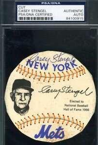 Casey-Stengel-Psa-Dna-Coa-Autograph-Photo-Disc-Hand-Signed-Authentic