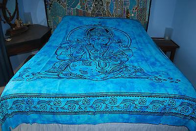 Nuevo Ganesh Doble Colcha Cobertor-Hippy comercio justo étnicas Tie Dye Hindú