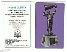 Wayne Gretzky Hockey Edmonton Oilers Coliseum Rexall Bronze Statue Postcard