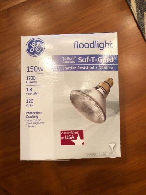 6 Pack GE Lighting 26370 150-Watt Saf-T-Gard Outdoor Floodlight Bulb