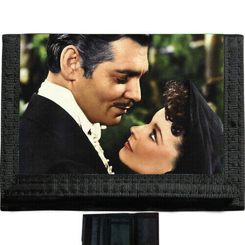 Gone with the wind BLACK TRIFOLD NYLON WALLET Great Gift Idea