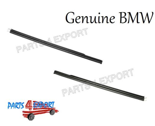 BMW E46 Coupe Set Left and Right Lower Outer window Weatherstrip Railing
