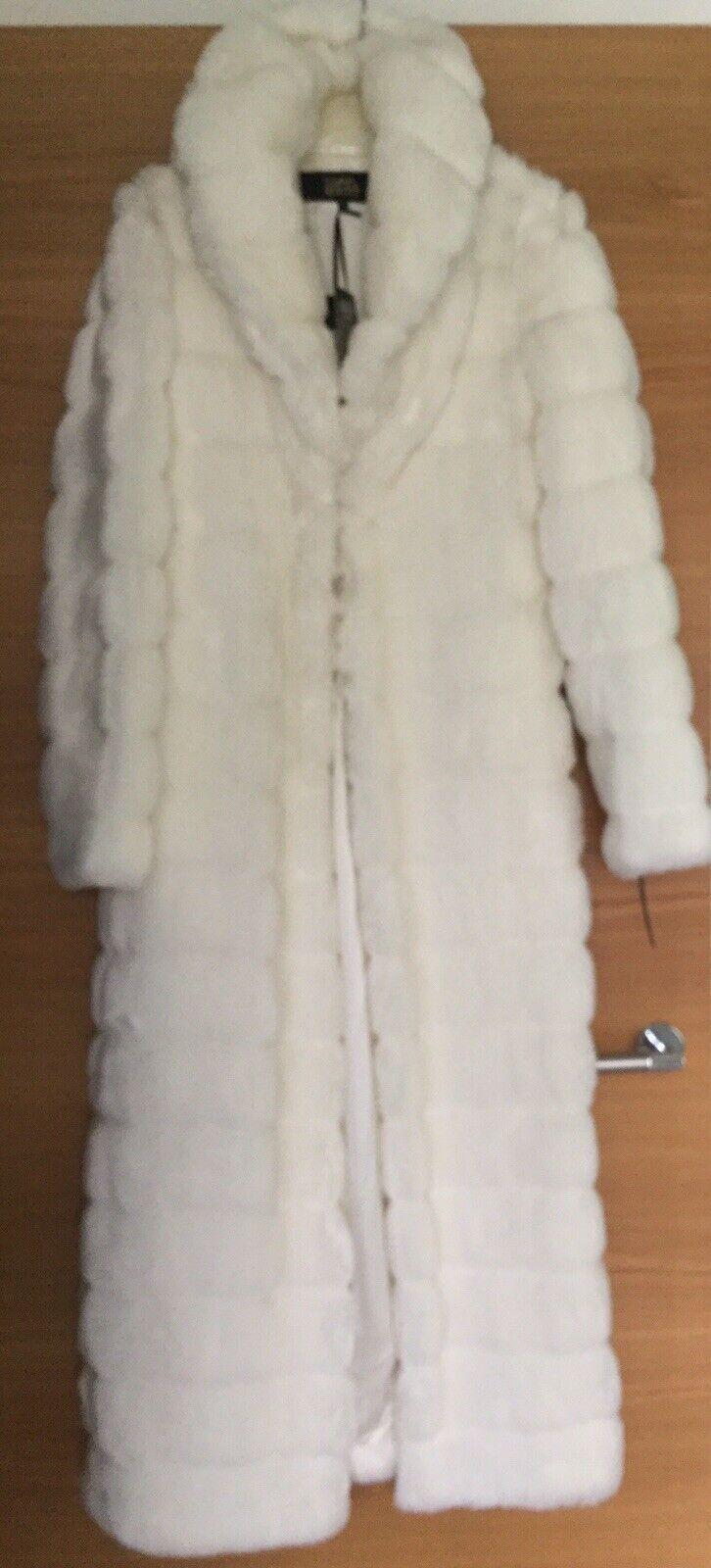 Stunning Cream Ivory Faux Fur Coat Size 8 Ladies Coat – Size 8 - Brand New