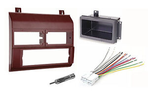 starter for chevy s10 wire harness 1988-94 chevy gmc car truck radio stereo burgundy dash kit ... 1988 chevy c3500 wire harness #7