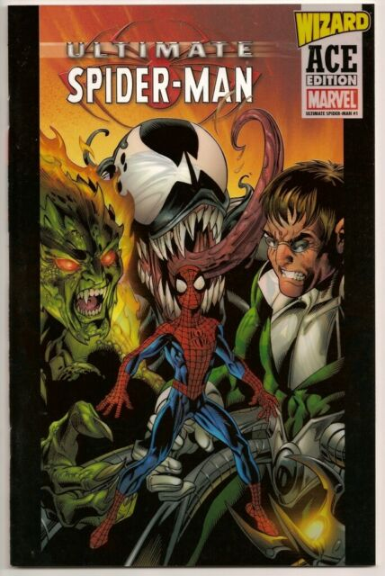 Ultimate Spider-Man #1 VF/NM Wizard Ace Edition Mark Bagley Cover (2005) Acetate