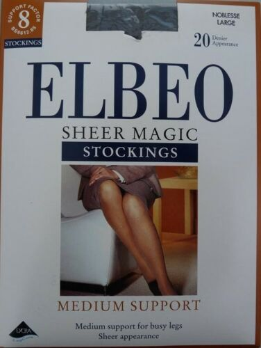 Clearance Elbeo Sheer Magic Support Factor 8 Medium Support Stockings 20Den A428