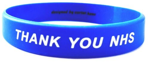 Designed Wristband NHS Heroes Adult Size CARTER HENC Silicone Wristband in Support for The NHS