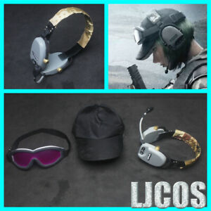 New-Unisex-Tom-Clancy-039-s-Rainbow-Six-Siege-Cosplay-Earphone-Goggles-Hat-Cos-Props