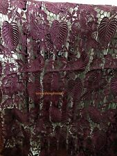 wine red MESH /EMBROIDERY LACE/ FABRIC/1yard*1.31yard/Venice lace