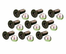 9 Caterpillar Style Skid Steer Cutting Edge Bolts W Nuts 159 2953 8t 4778