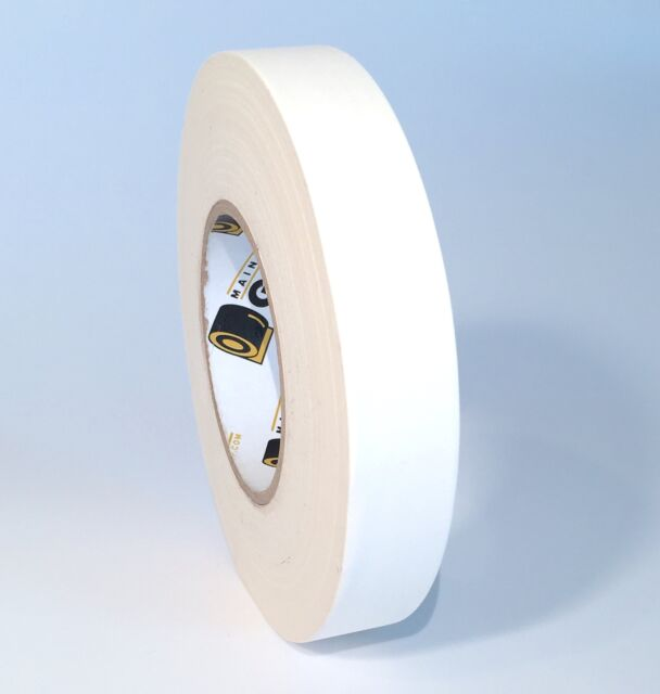 Gaffers Tape - White 1 Inch by 60 Yards - Main Stage Gaff Tape - Easy to Tear,