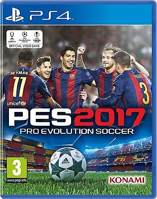 PRO EVOLUTION SOCCER 2017 PES 2017 PES2017 PES17 PS4 Game (BRAND NEW SEALED)