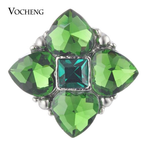 Vocheng Snap Charms bouton 18 mm 3 Couleurs Rempli cristal forme carrée Vn-1780