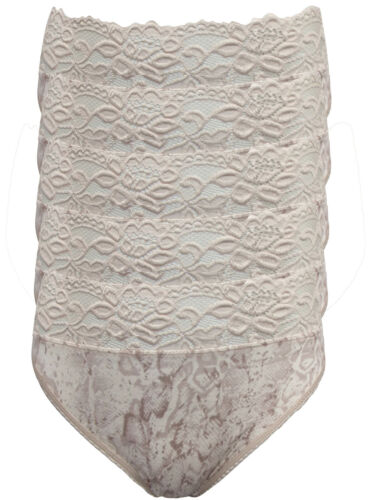 M/&s Pearl Snake Print 5 Pack Dentelle Taille Haute Jambe Knickers UK 8 RRP £ 12