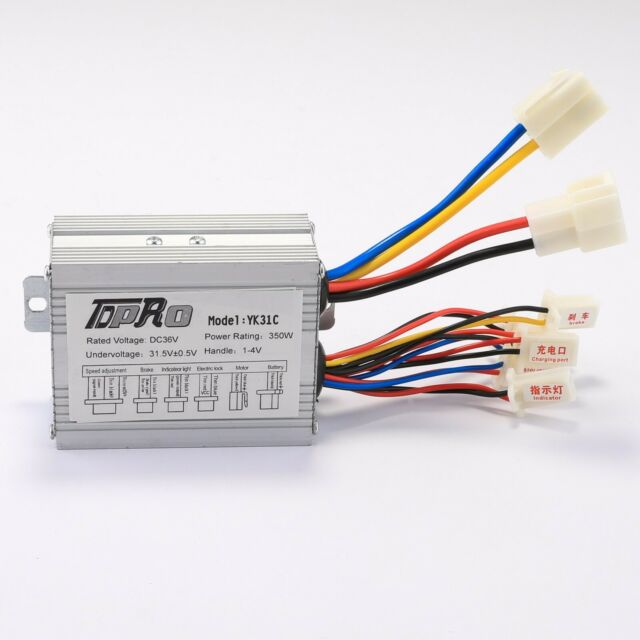 36V 350W Brush Motor Speed Controller Box for Electric Bicycle & Scooter e-Bike