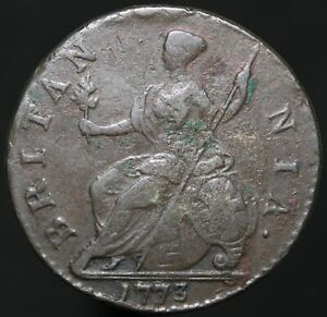 1773-George-III-Half-Penny-Copper-Coins-KM-Coins