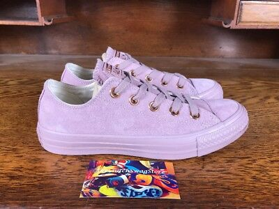 Converse Chuck Taylor All Star Womens Low Top Rose GoldPinkWhite Fashion Shoes | eBay