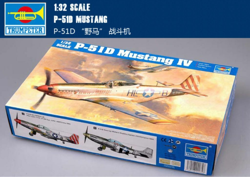 02275 Trumpeter 1 32 Model American WW II US P-51D Mustang IV Fighter Aircraft