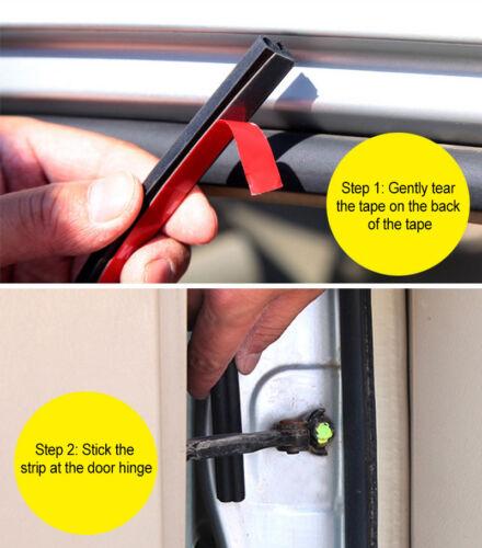 5M B Type Car Door Edge Trims Rubber Seal Strip Anti-dust Wertherstrip Universal