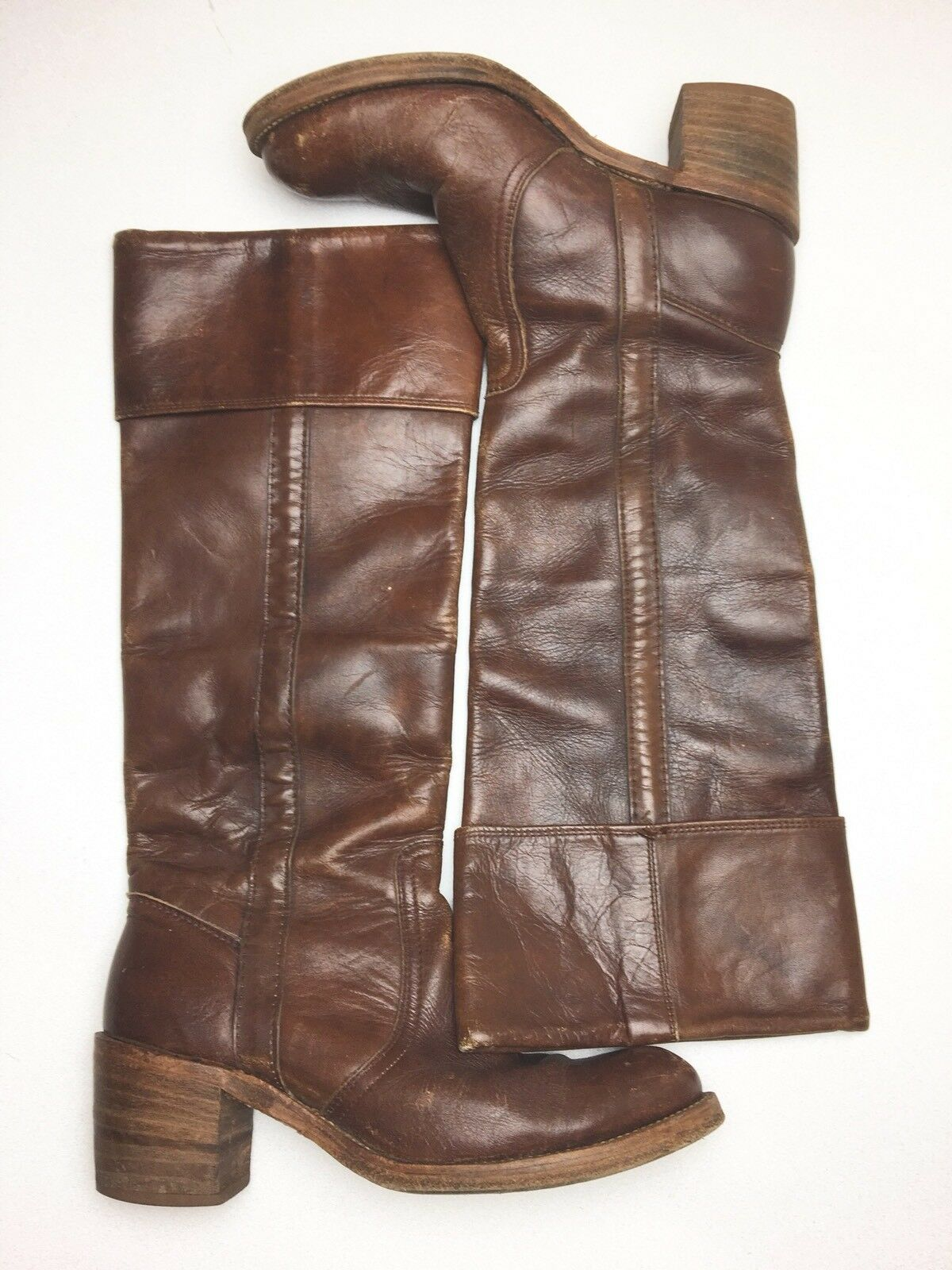 Vintage Frye Riding Campus Boots Gen. Leather Sz 8AA