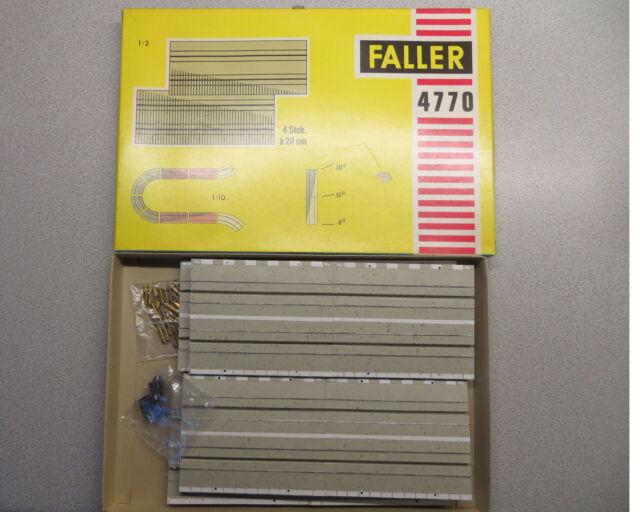 Faller Ams 4770 Trayecto Inclinado para Curva Cerrada en Emb.orig., sin Usar
