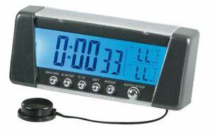 Seyio K-9, Multifunktionsuhr mit Innen-/Außenthermometer, Wecker, 12/24V