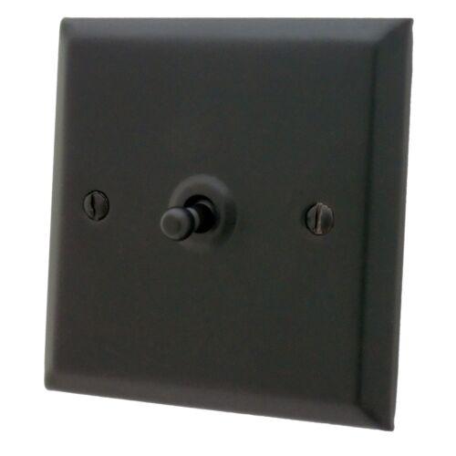 gradateurs prise douilles fuse tv cuisinière Spectre matt black sfb interrupteurs