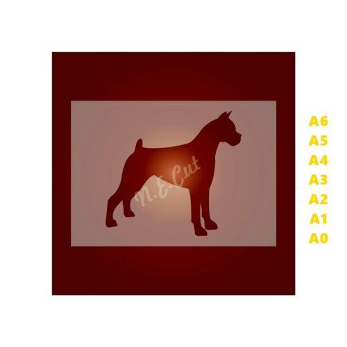 Dog Stencil-Strong 350 micron Mylar not Hobby stuff #DOGS022 GREAT DANE