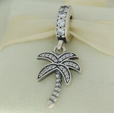 Authentic Pandora 791540CZ Palm Tree Travel CZ Sterling Silver Bead Charm