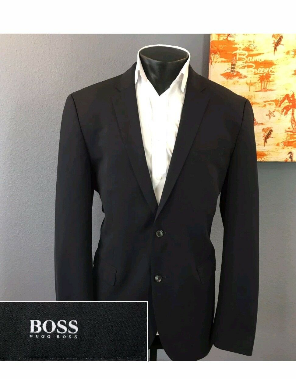 Hugo Boss The Jam75 Sharp3 Lightweight Navy Blau Blazer Sport Coat Sz 40R