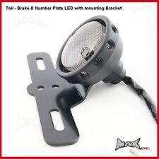 Red LED 12 V Universal Rear Motorcycle Tail Light Brake Stop Lamp