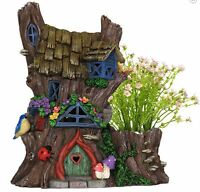 Planter Solar Fairy House Outdoor Garden Decor Brand In Box