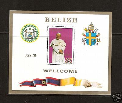 Belize # 667 Mnh Pope John Paul Ii Visit In 1983 Attractive And Durable Belize (1973-now) Latin America