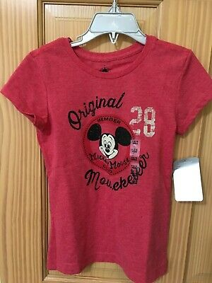 Small 5//6 Minnie Mouse Original Mouseketeer Red Disney Store Tee Shirt NWT