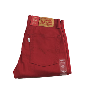 f8e2a9077d4 NEW MENS PREMIUM LEVIS 510 SKINNY FIT SCOOTER RED 055100689 ALL ...