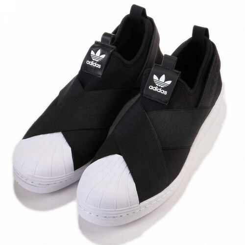 Superstar Slip on shoes Womens originals Adidas S81337 black white Sneakers