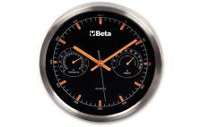 Beta Tools Aluminium Wall Clock With Thermometer 9594