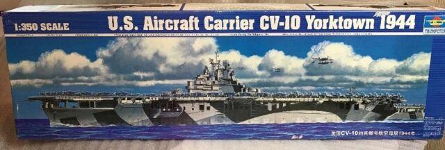trumpeter 1/350 05603 us aircraft carrier cv-10 yorktown 1944 model ship kit