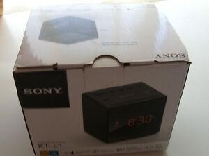 93a844aae45 2x Sony AM FM Radio Alarm Clock ICF-C1 (Black) - ICF-C1 27242874879 ...