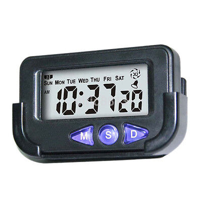Creative Digital Car Electronic Travel Alarm Clock Time Date Auto Stopwatch CA