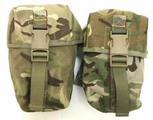 2-x-British-army-surplus-large-mtp-camouflage-molle-osprey-pouches-G1